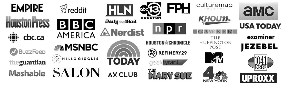 Comicpalooza Media Featured Logos