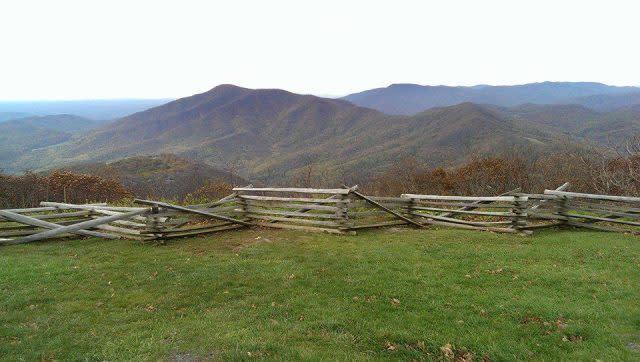 Blue Ridge Parkway Fence - Fall Photo