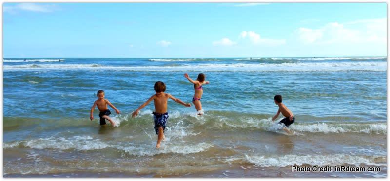 Dancing in the ocean