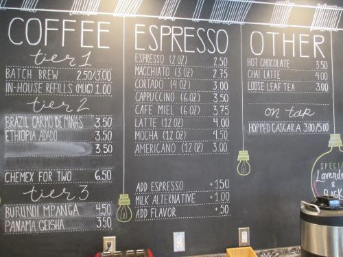 Menu at Ferris Coffee & Nut Co.