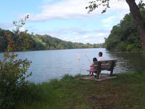 Fishing at Half Moon Lake