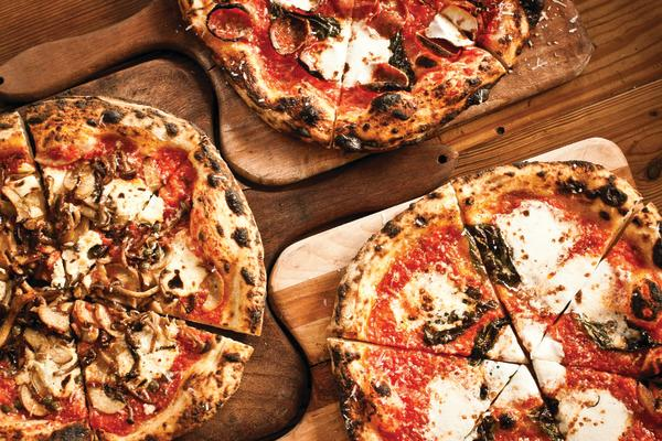 Pizzas at The Backspace