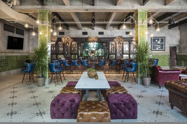 The historic Cedar Tavern Bar at Eberly Austin