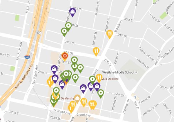 KONO Oakland Map