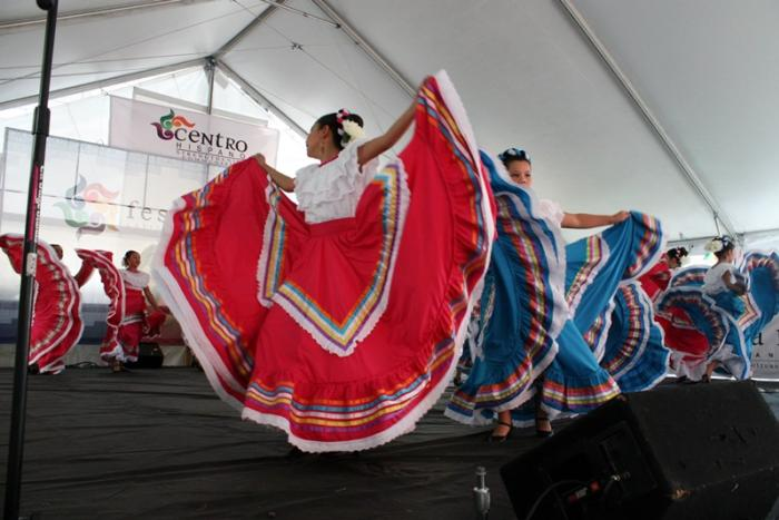 Mexican Dancers at the Festival Latinoamericano