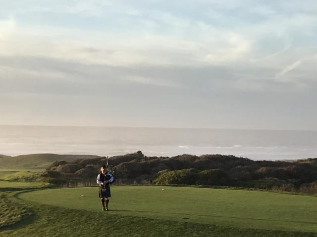 Spanish Bay Bagpiper
