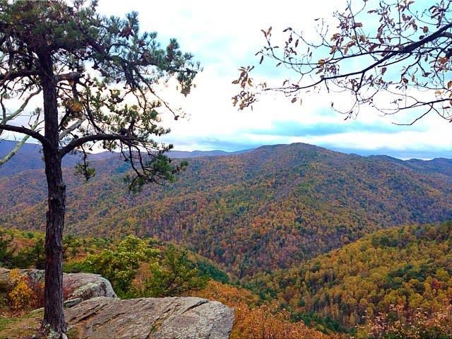 Blue Ridge Mountains Overlook - Fall Photo