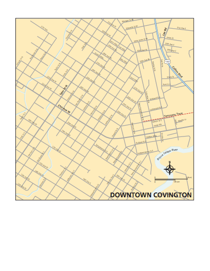 Map of Covington Downtown