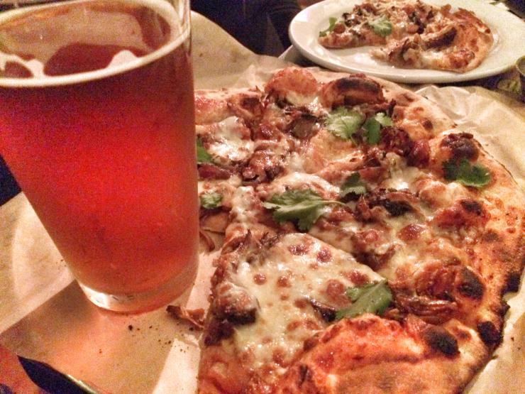 Harmony Brewing Company pizza and beer