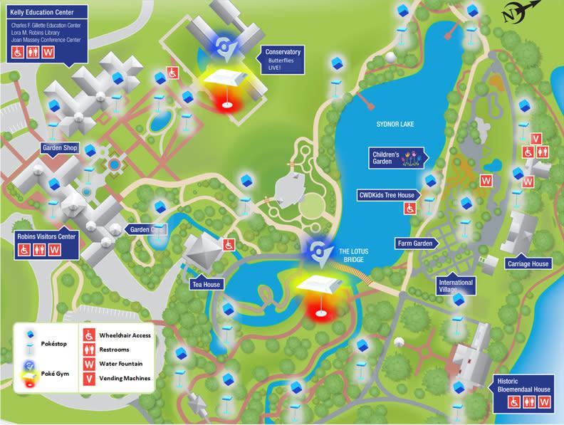 Lewis Ginter Pokemon Map