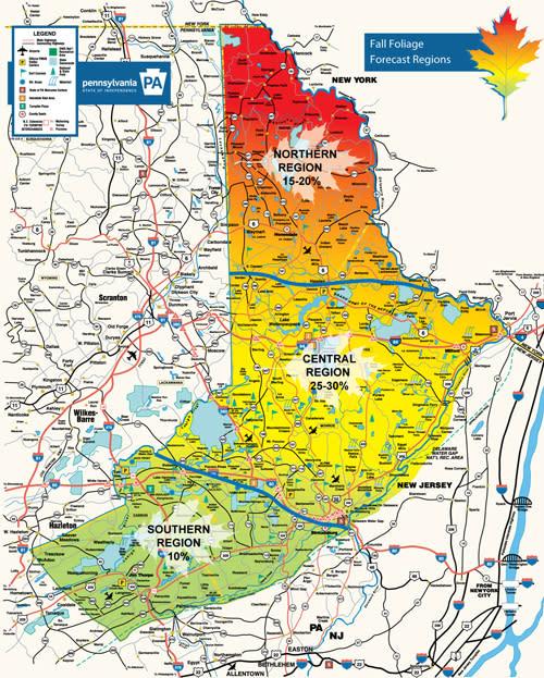 Fall Foliage Map - Week of Sept 29