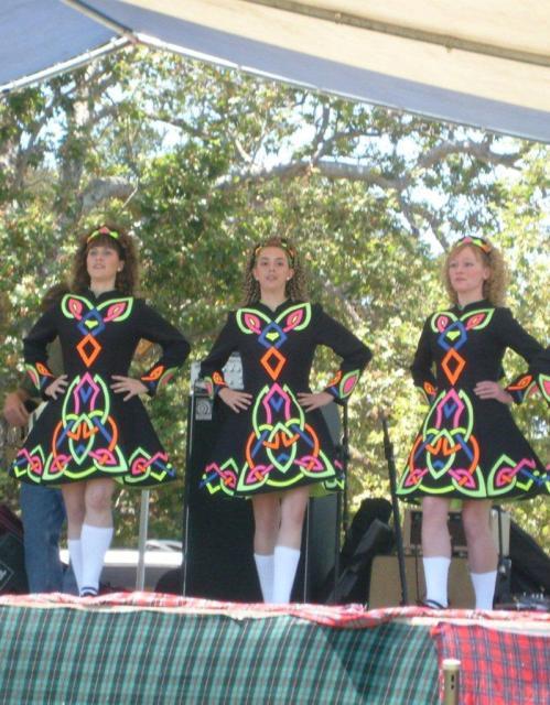 Highland Dancers at the Monterey Scottish Game & Celtic Festival