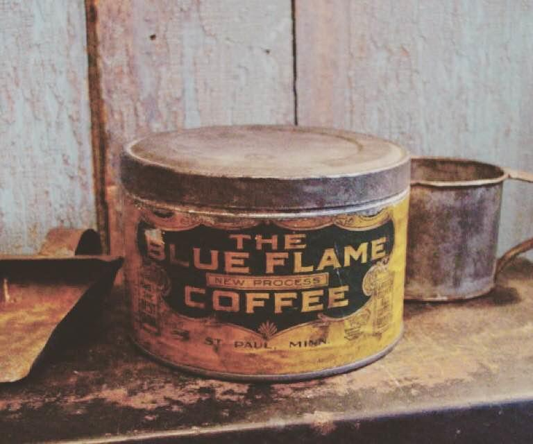 Blue Flame Coffee old tin