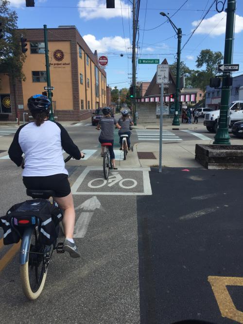 Electric bikes downtown