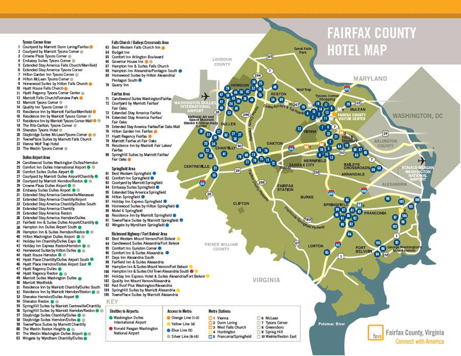 Fairfax County Hotel Map 08_16