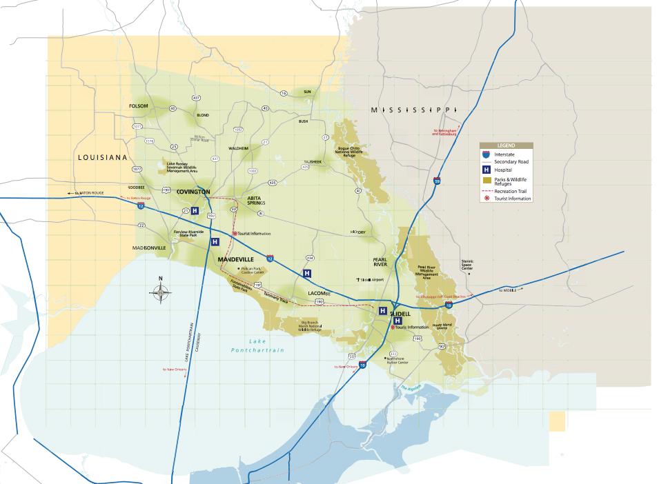 Map of St. Tammany Parish