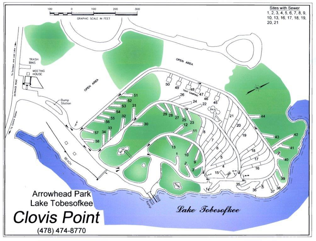 Arrowhead Park Map