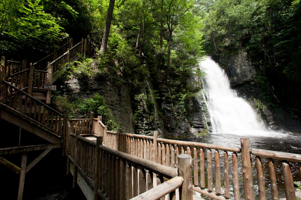 Bushkill Falls in the Pocono Mountains