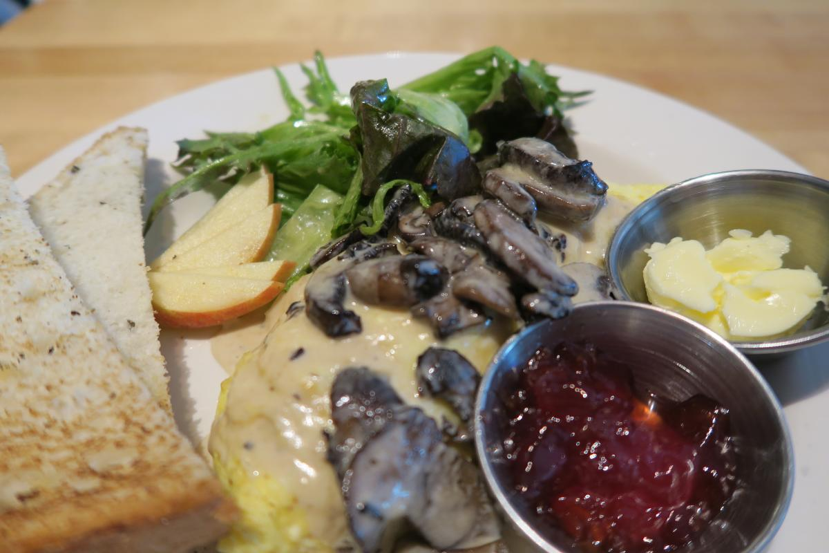 Tasty looking mushroom omelet at Terra GR
