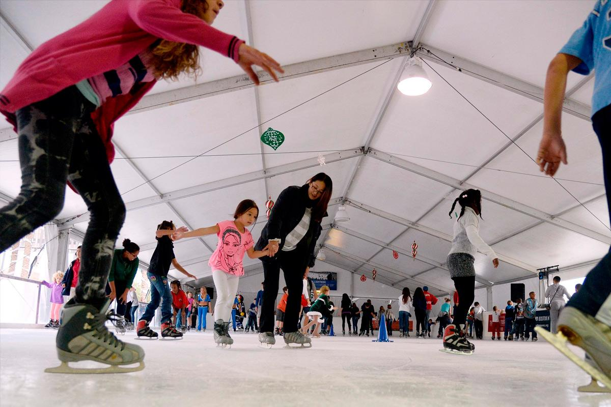 Winter Village Ice Skating