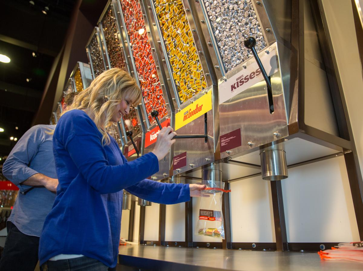 Amazing Candy Machine at Chocolate World