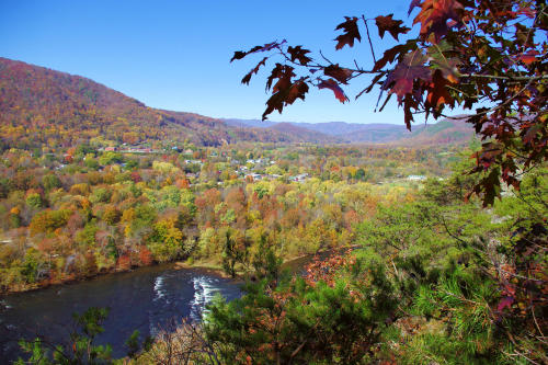 Lovers Leap in Fall