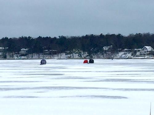 Ice Fishing Shanties in Grand Rapids