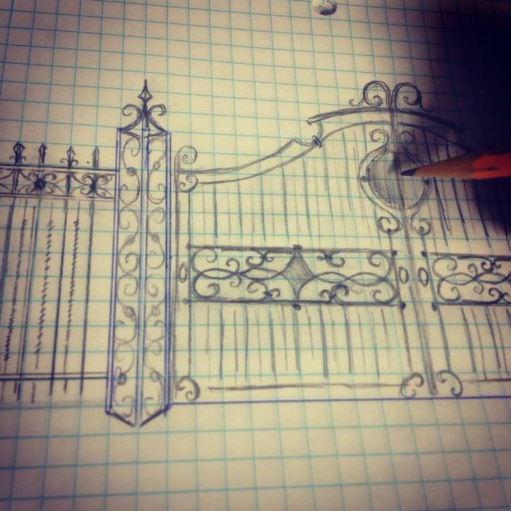 gate drawing