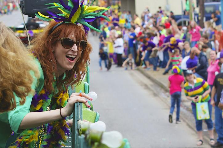 Angie Manning on parade float