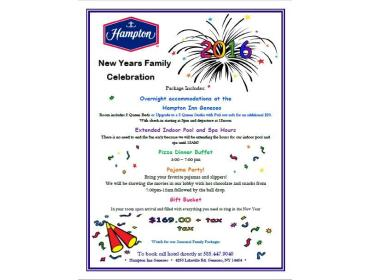 New Years Family Celebration Package