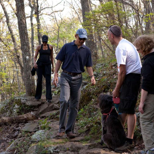 Obamas Hiking Craven Gap