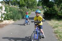 Kids on bikes by Sally McAleer