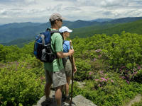 Hiking at Craggy Gardens