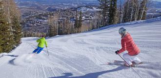 Skiers at Deer Valley Resort