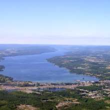 Finger Lakes Canandaigua Lake Scenic Aerial