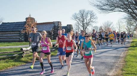 Runners at the Muhlenberg Brigade Huts