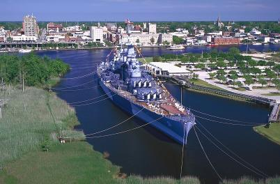 Aerial of Battleship NC