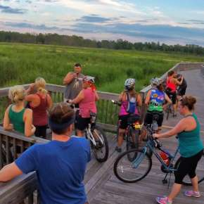 Group of Friends on the Towpath Trail