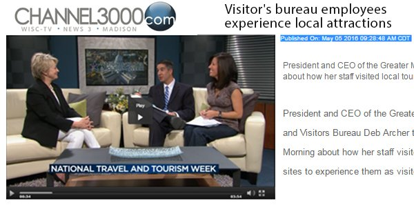 Channel3000: Visitor's bureau employees experience local attractions