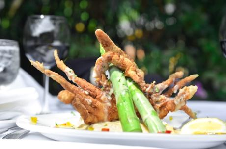 Soft shell crab dish at Gallagher's Grill and Courtyard in Covington