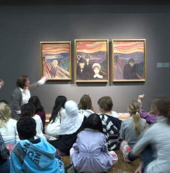 Children at the Munch Museum