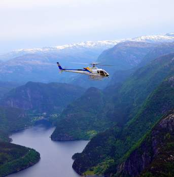 Helicopter excursion Bergen