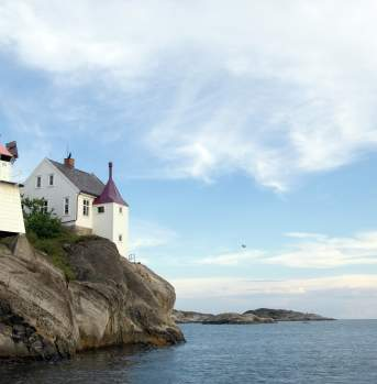 Ryvingen Lighthouse by Grimstad, Southern Norway