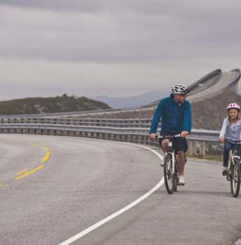 Biking along the Atlantic Road