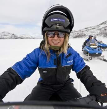 Snow mobile in Kirkenes