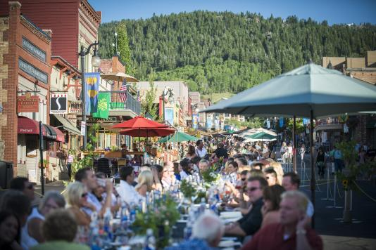Longest Outdoor Dining Table at Park City's Savor the Summit