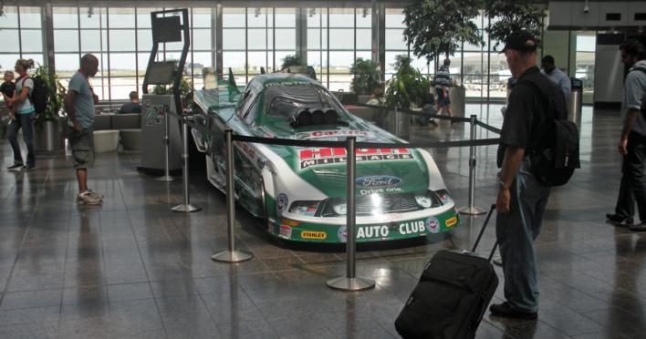 John Force Airport Display - TED Fund Grant recipient