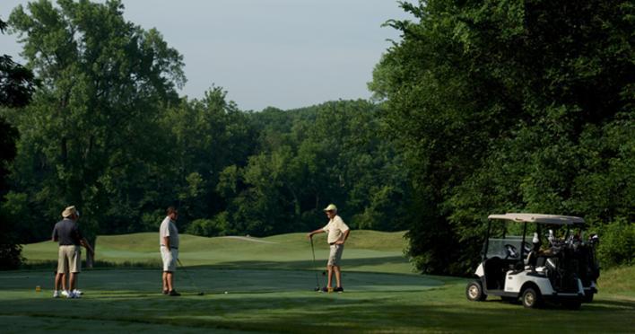 Golfing at Twin Bridges