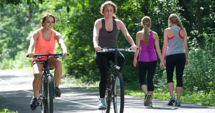 Walking and Biking on B&O Trail