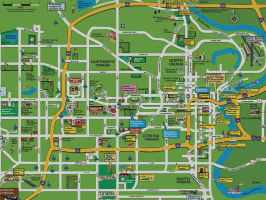 Areas of Omaha Neighborhoods Downtown Central – Tourist Attractions Map In Nebraska
